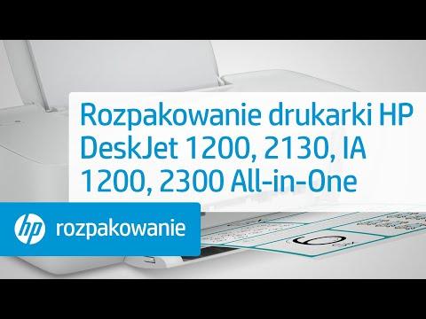 Rozpakowanie drukarki serii HP DeskJet 1200, 2130, Ink Advantage 1200, 2300 All-in-One