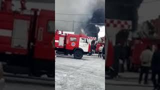 Пожар на СТО в Алматы