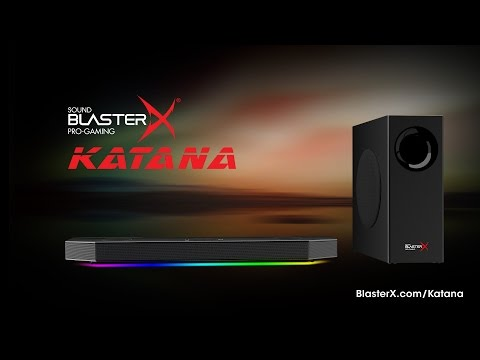 Creative Sound BlasterX Katana Multi-channel Bluetooth Wireless Gaming Soundbar Black