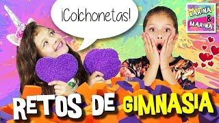 😍  ¡¡JUEGOS DE GIMNASIA En Colchonetas ELÁSTICAS!! 🎀  GIMNASIA RÍTMICA Y GIMNASIA ARTÍSTICA