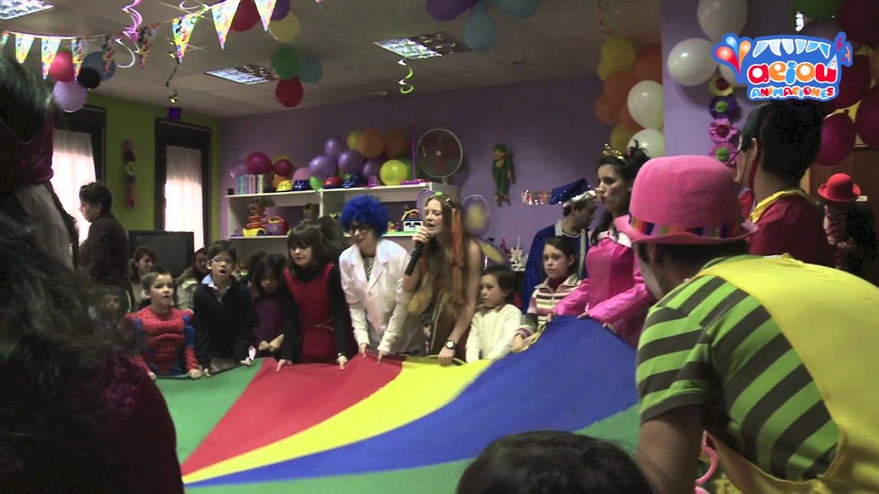 Juegos para cumpleaños, fiestas infantiles a domicilio paracaídas