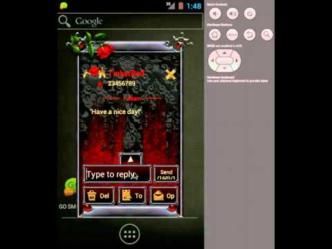 Video of GOSMS/POPUP THEME Goth Hearts