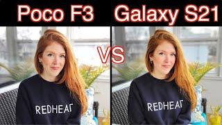 Xiaomi Poco F3 VS Samsung Galaxy S21 Camera Comparison!