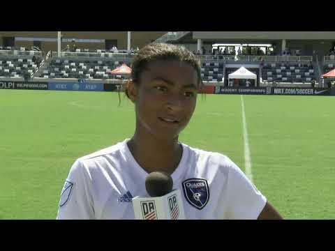 2019 Development Academy Finals: U15 Girls Semifinal - San Jose Earthquakes vs. Placer United