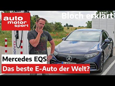 Mercedes-Benz EQS: Wie weit kommt die Elektro S-Klasse? - Bloch erklärt #149   auto motor und sport