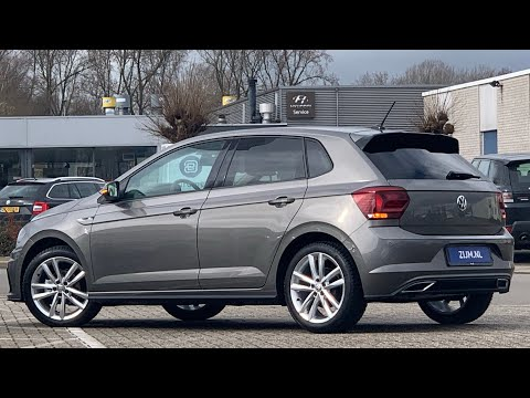 Volkswagen NEW Polo R-Line 2020 in 4K Limestone Grey 17 inch Pamplona Walk Around & detail inside