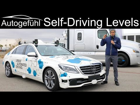 Levels of Autonomous Driving – Level 0 1 2 3 4 5 – what is what? Example Mercedes S-Class Prototype