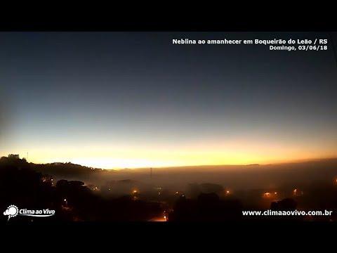 Neblina ao amanhecer em Boqueirão do Leão / RS - 03/06/18
