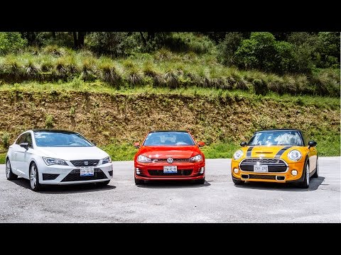 Comparativa: Volkswagen Golf GTI vs, SEAT León Cupra vs MINI Cooper S