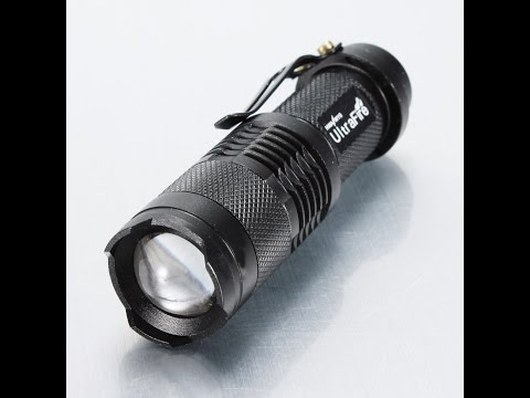 Mini Cree Led Q5 Ultrafire Flashlight Torch Adjustable Focus Zoom Light Lamp Thorough Review Part #1
