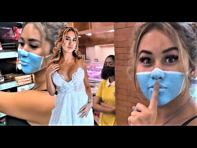 Two influencers paints mask on face to enter Bali store in viral video  Josh Paler Lin and Leia Se