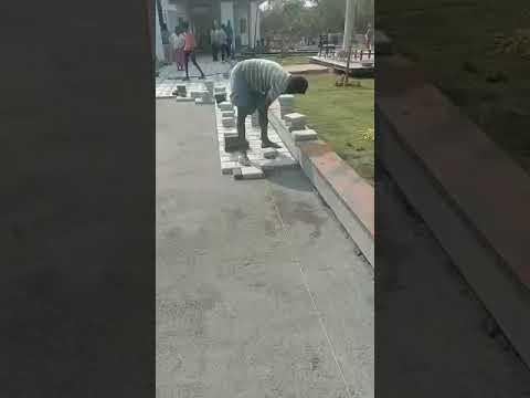 Shot blaster paver block