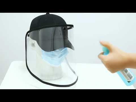 Protective Baseball Cap Mask Removable Face Shield