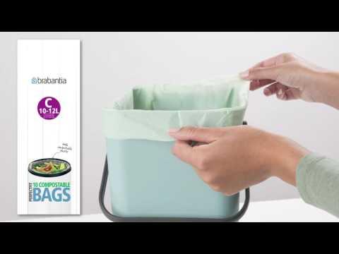Brabantia PerfectFit composteerbare afvalzakken – 100% biologisch afbreekbaar