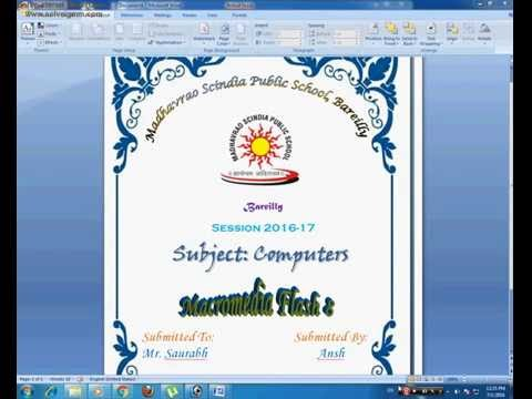 download cover page for word 2007
