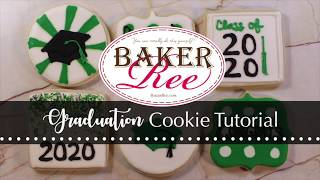 Graduation Cookie Decorating Tutorial - Beginner Set