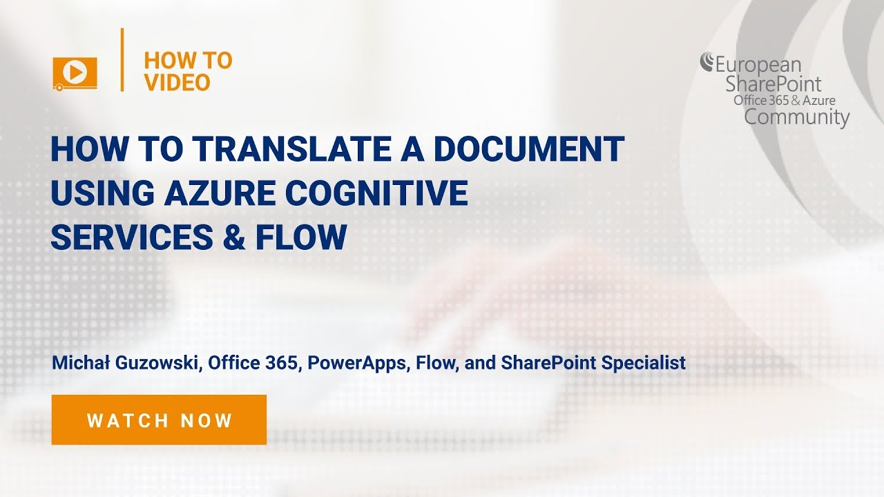 How To Translate a Document Using Azure Cognitive Services & Flow