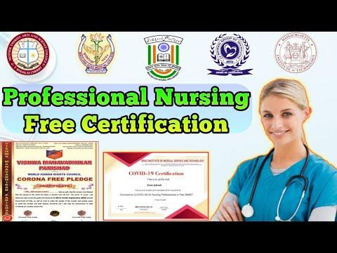 Professional Nursing certification | Free Certificate | Online Quiz ...