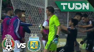 ¡Así fue la bronca en la recta final! | México 2 - 2 Argentina | Amistoso Sub 22 | TUDN