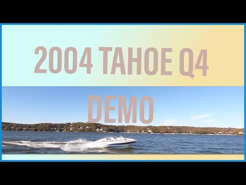 2004 Tahoe Q4 Sport Fish Ski On Water Demo How to Fish and Ski Boating Video