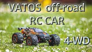 VATOS - RC Car - 46km/h 4WD Off-Road Buggy, 1:12 Scale 2.4GHz Radio RC Electric Off-Road Vehicle