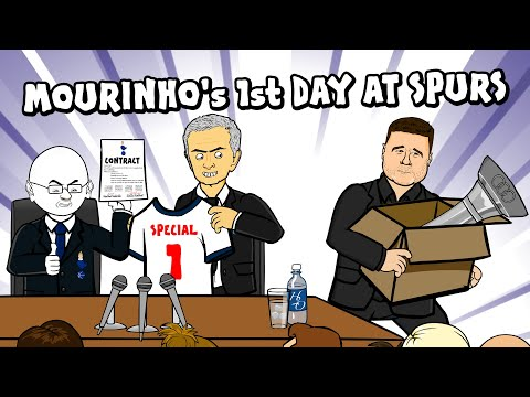 ⚪Jose Mourinho's First Day at Spurs!⚪