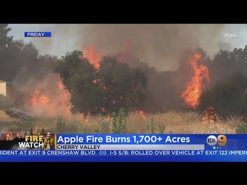 Evacuations Ordered As Apple Fire Burns In Cherry Valley, Threatens Homes