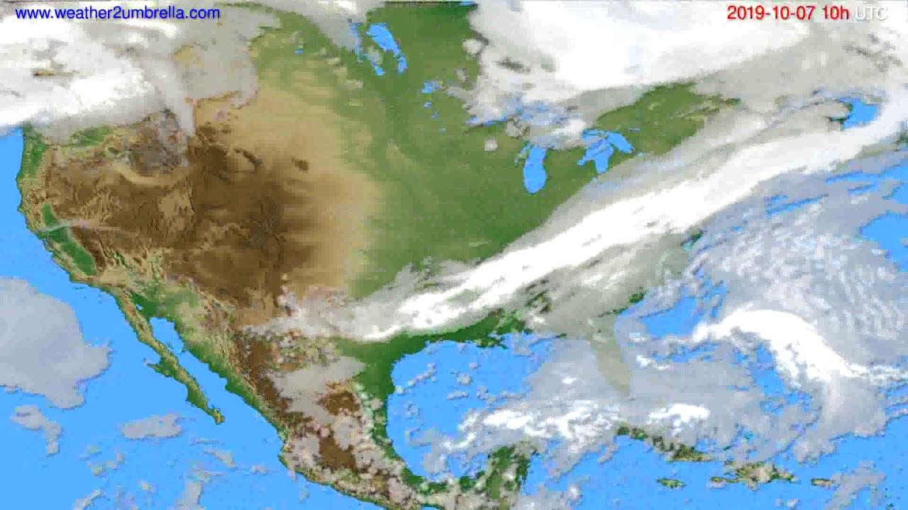 Cloud forecast USA & Canada // modelrun: 00h UTC 2019-10-05