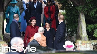 Kate Middleton and Meghan Markle at Christmas Day Church service | British Royals | InStyle