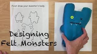 6 Felt Monster Part 1