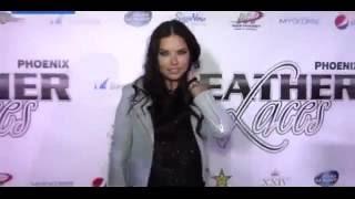 Адриана Лима / Model Adriana Lima shares the love at Super Bowl bash