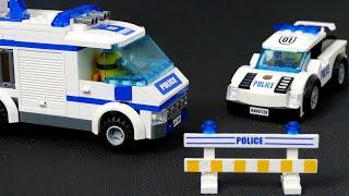 LEGO City 60044 Mobile Police Unit - Truck Crash . Police car . Police helicopter