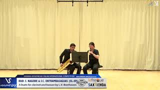 DUO I. NAGODE & J.C. ENTRAMBASAGUAS play 3 Duets by L.V. Beethoven #adolphesax