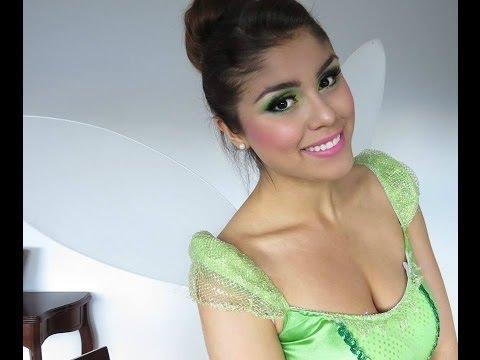 Disfraz de Campanita/Tinkerbell -  Maquillaje, Peinado y Outfit!