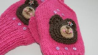 Вязание Спицами - Варежки для Детей - 2017 /Knitting Mittens for Kids / Fäustlinge für Kinder