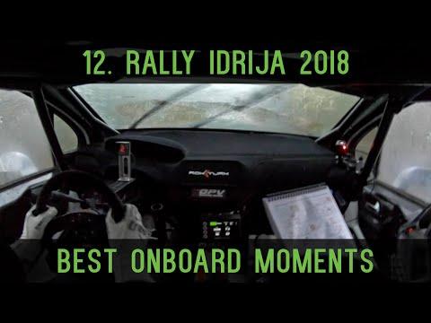 12. rally Idrija 2018   Best onboard moments   Rok Turk - Blanka Kacin (Peugeot 208 T16)
