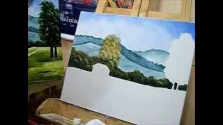 Como pintar árvores e vegetação que ficam em segundo plano na paisagem