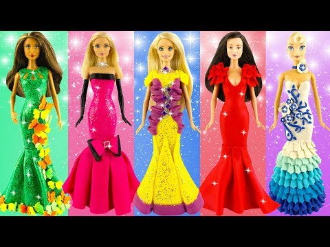 How to make Glitter toy dresses   New play doh design