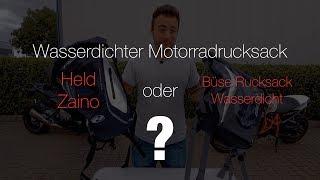 Test Wasserdichter Motorradrucksack - Held Zaino oder Büse ? l Motocyc