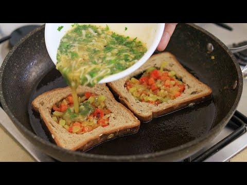 חביתה בקן: מתכון לחביתה בתוך לחם • צפו