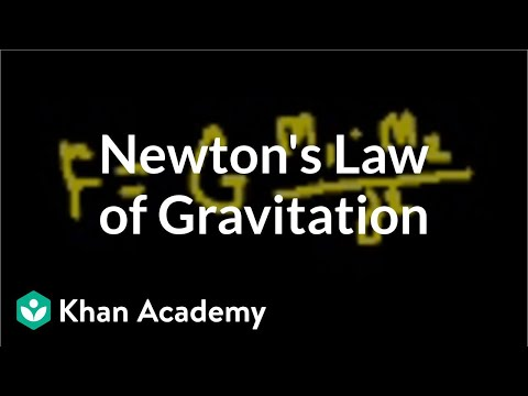 Introduction to Newton's law of gravitation (video) | Khan ...