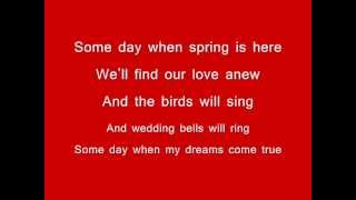 Some Day My Prince Will Come Lyrics - Snow White