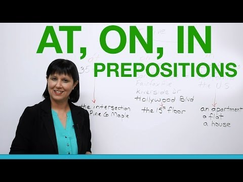 Prepositions to Say Where You Live: AT, ON, IN