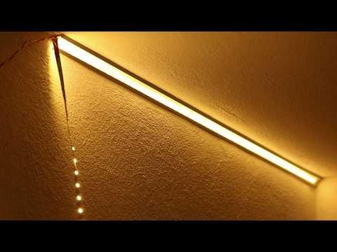 LED Strip mit ALU-Profilen an der Wand oder Decke professionell montieren und kühlen