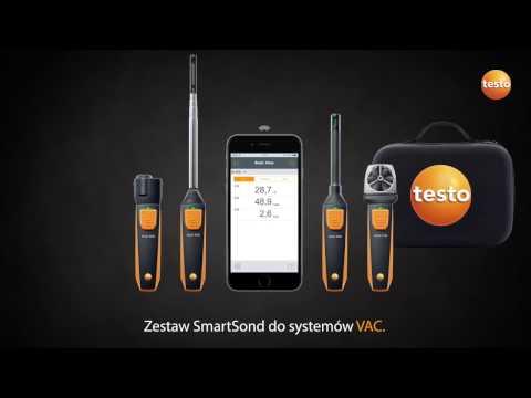 Zestaw SmartSond Testo do systemów wentylacyjnych VAC