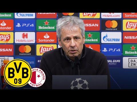 """""""Das Achtelfinale zu erreichen ist fantastisch!""""   PK mit Lucien Favre   BVB – Slavia Prag 2:1"""