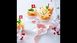 Macaroni au jambon et Gruyère AOP suisse façon muffins Video