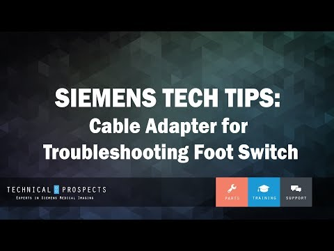 Tech Tip - R&F: Cable Adapter for Troubleshooting Foot Switch