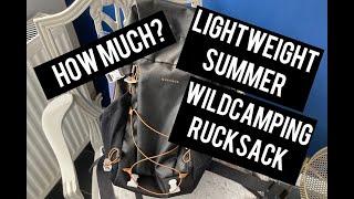 Lightweight 30L Summer Wildcamping Rucksack   Decathlon   Quechua