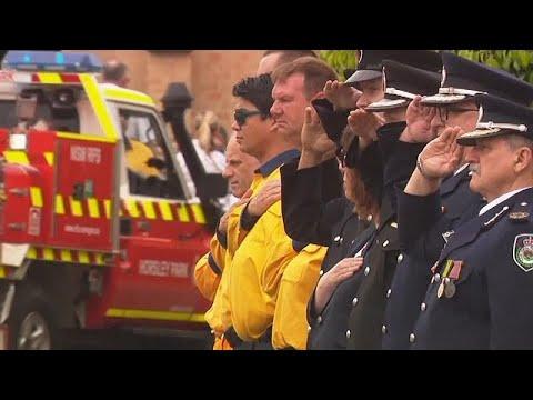 Αυστραλία: Σε έντονη συγκίνηση η κηδεία πυροσβέστη που έχασε τη ζωή του στις φλόγες…